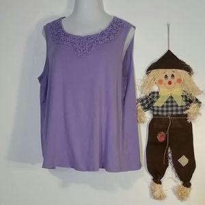 Woman's Lavender Croft & Barrow blouse size 3x